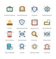 antivirus and security icons collection vector image vector image
