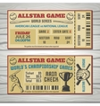 Baseball Competitions Tickets vector image vector image