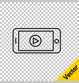 black line online play video icon isolated on vector image vector image