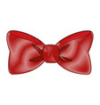 bow tie isolated vector image vector image