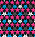 bright star seamless pattern vector image vector image