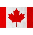 Canadian grunge flag background vector image vector image