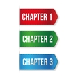 Chapter One Two Three vector image vector image