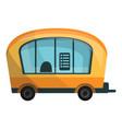 city info truck icon cartoon style vector image