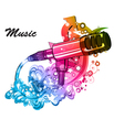 colorful music poster vector image vector image