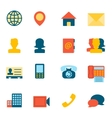 Contact Icons Flat vector image vector image