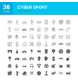 cyber sport line web glyph icons vector image
