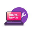 digital equipment repair - logotype template vector image