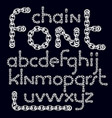 english alphabet letters collection lower case vector image vector image