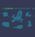 european union france denmark finland poland vector image