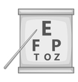 Eye test icon gray monochrome style vector image vector image