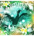 fantasy nature cormorant vector image vector image
