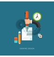 Flat concept for graphic vector image vector image