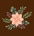 flower wedding card vector image vector image