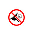 forbidden hunting bird icon on white background vector image