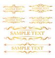 gold ornaments collection vector image vector image