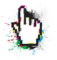 hand mouse symbol vector image vector image