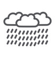 heavy rain line icon weather and meteorology vector image vector image