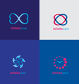 Infinite Love logo design vector image