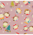 kids Christmas pattern vector image vector image