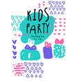 kids party colorful template with date an be used vector image vector image