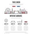 london travel infographics in linear style vector image