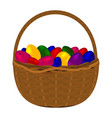 multicolored colorful eggs for happy easter vector image vector image