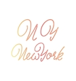 New York - hand drawn watercolor calligraphy and vector image vector image