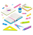 office accessory school supplies chancery vector image vector image