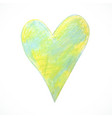 pastel-heart-green vector image