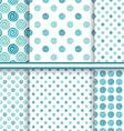 polka dot abstract seamless patterns set - polka vector image