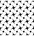 Polka dot and star black seamless pattern vector image