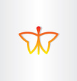 red butterfly icon design vector image vector image
