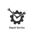repair service with gear like clock vector image vector image