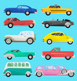 retro vintage old style car vehicle automobile vector image vector image