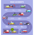 Road Accident Infographic Flowchart vector image vector image