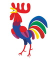 Rooster new year 2017 symbol vector image vector image