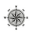 rose of winds marine navigation compass arrows vector image
