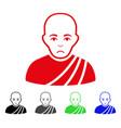 sad buddhist monk icon vector image vector image