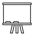 school board icon outline style vector image vector image