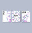set modern holographic covers vector image
