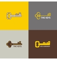 Set of logos of keys vector image vector image