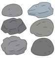 set of stone vector image