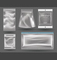 set transparent empty plastic packaging vector image vector image