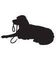 Shaggy Dog Silhouette vector image vector image