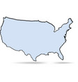 simple map usa vector image vector image