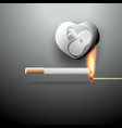 smoking burns your unborn baby vector image