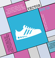 Sneakers icon sign Modern flat style for your vector image vector image