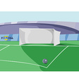 Soccer Goal colorful vector image