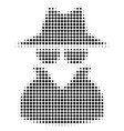 spy halftone icon vector image
